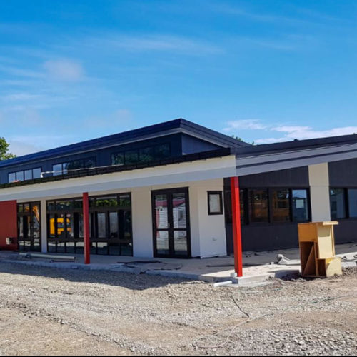 Commercial exterior painting at Bishopdale School in Christchurch