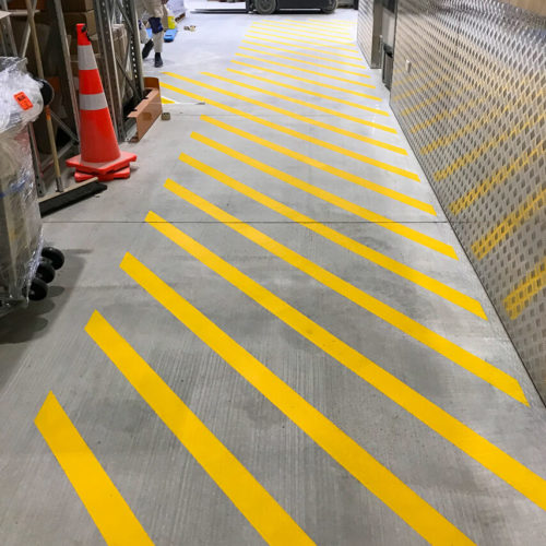 Christchurch Floor Markings using Dulux Road Master by MJS Painters