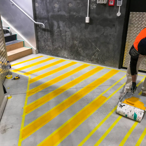 Floor Markings in Christchurch using Dulux Road Master