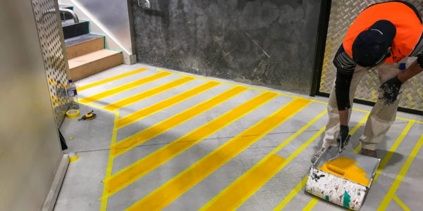 Floor Markings in Christchurch using Dulux Road Master