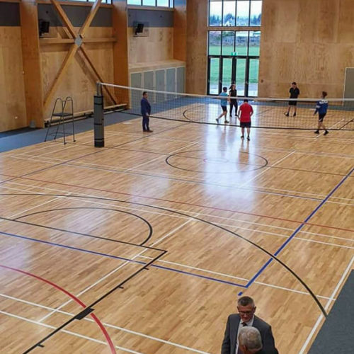 Fire coating of the Kaiapoi High School Gymnasium
