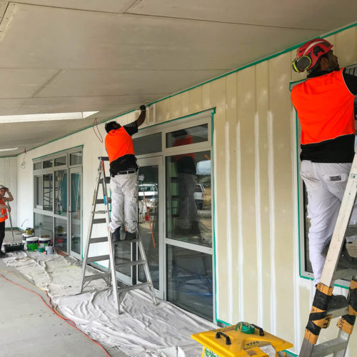 Parkview School commercial interior & exterior paint job by MJS Painters