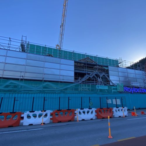 O'Connells Mall in Queenstown, Wanaka in construction where we will paint