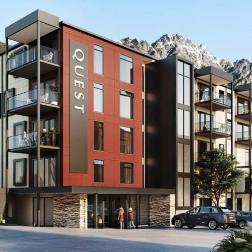 The finished Quest Apartments in Queenstown, Wanaka where we carried out interior and exterior painting